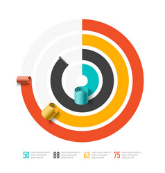 Spiral business chart template infographics vector