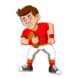 Strong football player cartoon vector