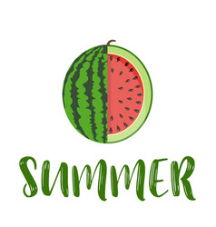 Summer word with fruit watermelon vector