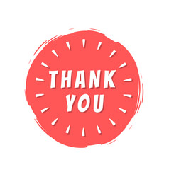 Thank you inscription on red painted spot strokes vector
