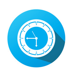 Time icon with a white background clock symbol vector