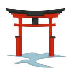 Torii gate japanese symbol architecture and vector