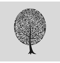 Tree the house vector image