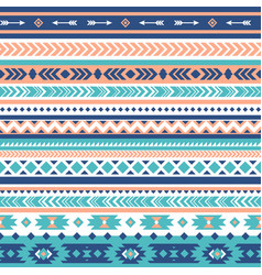 tribal seamless pattern aztec geometric vector image