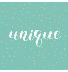 Unique Brush lettering vector