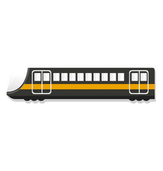 urban passenger train icon cartoon style vector image