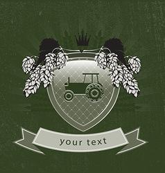 vintage agricultural logo vector image