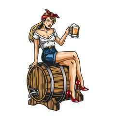 Vintage beer colorful concept vector