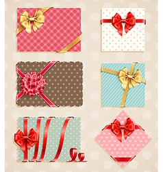 Vintage bow collection1 vector