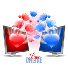 Virtual love vector image