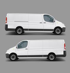 White commercial cargo minivan template vector