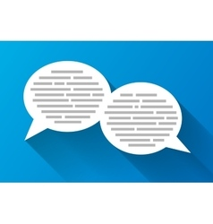 White speech bubbles with grey abstract text vector