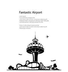 Airport Poster Brochure Design vector image