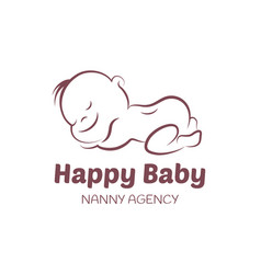 baby logo template for nanny agency vector image vector image