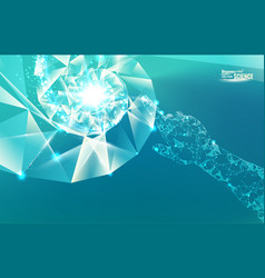 blue light abstraction vector image vector image