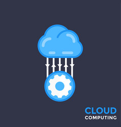 cloud technology vector image