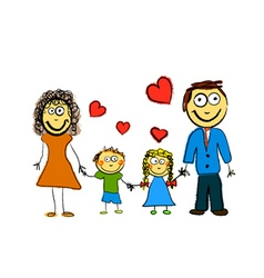 cute family vector image