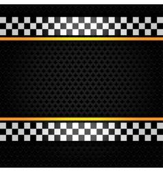 Metallic perforated sheet vector image