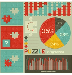 Puzzle for Infographics vector image
