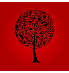 Tree the weapon vector image vector image