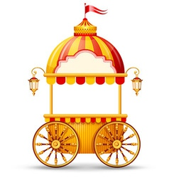 Cart stall vector image vector image