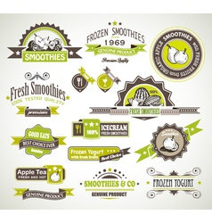 Fruit Product Labels vector image vector image