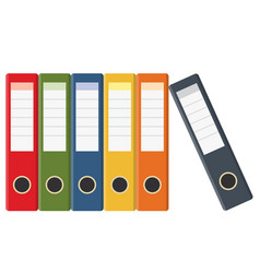 set of colored ring binders vector image