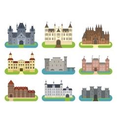 Castle cartoon set vector image vector image