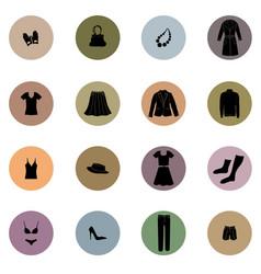 cloths icon set fashion sign female wardrobe vector image