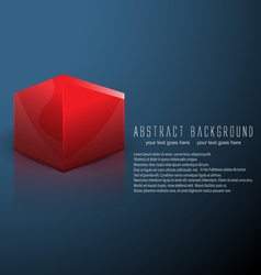 cube business background vector image vector image