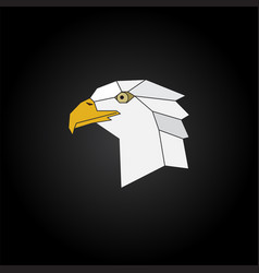 Eagle head abstract isolated on a black background vector