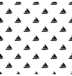 Sailing yacht pattern simple style vector image vector image