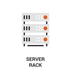 server rack icon vector image