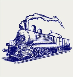 Steam train with smoke vector