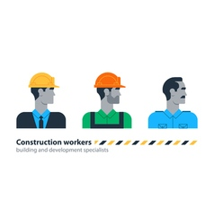 Builder man side view construction worker labor vector image vector image