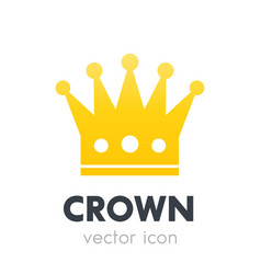 crown logo element icon on white vector image
