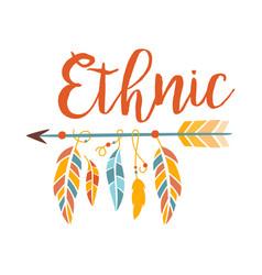 Ethnic boho style element print hipster fashion vector