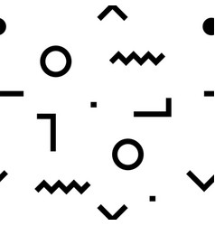 hipster pattern abstract geometric line shapes vector image vector image