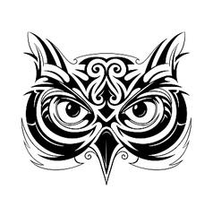 Owl head tattoo vector image