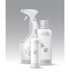 plastic bottles vector image vector image