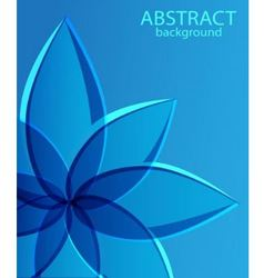 abstract blue background with flower vector image