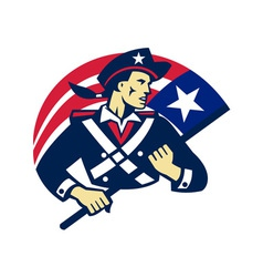 american patriot minuteman flag retro vector image