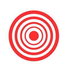 Archery red target on white vector