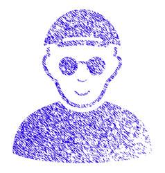 Blind man icon grunge watermark vector