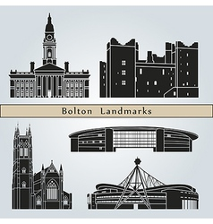 Bolton landmarks and monuments vector image