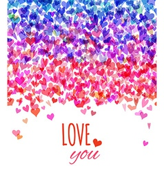 Bright Valentines background vector image