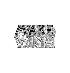 brush written make wish vector image