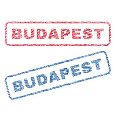 Budapest textile stamps vector