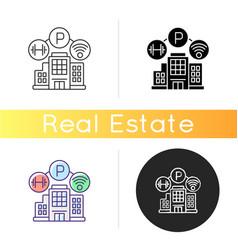 Building amenities icon vector