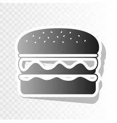 burger simple sign new year blackish icon vector image